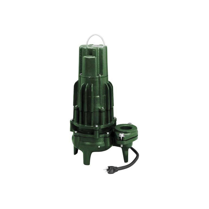 Zoeller® 293-0006 High Head Waste-Mate 290 Three Phase Single Seal Submersible Sewage Pump, 122 gpm, 2 or 3 in FNPT Outlet, 1 hp, Cast Iron