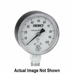 Trerice 800B Dry Case Pressure Utility Gauge, 2-1/2 in Dial, 0 to 160 psi, 1/4 in NPT Back Mount, +/-1.6%