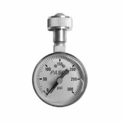 PASCO 1428 Lazy Hand Water Test Gauge, 3/4 in Dial, 0 to 300 psi, 3/4 in FHT Brass Swivel, Liquid Filled: No