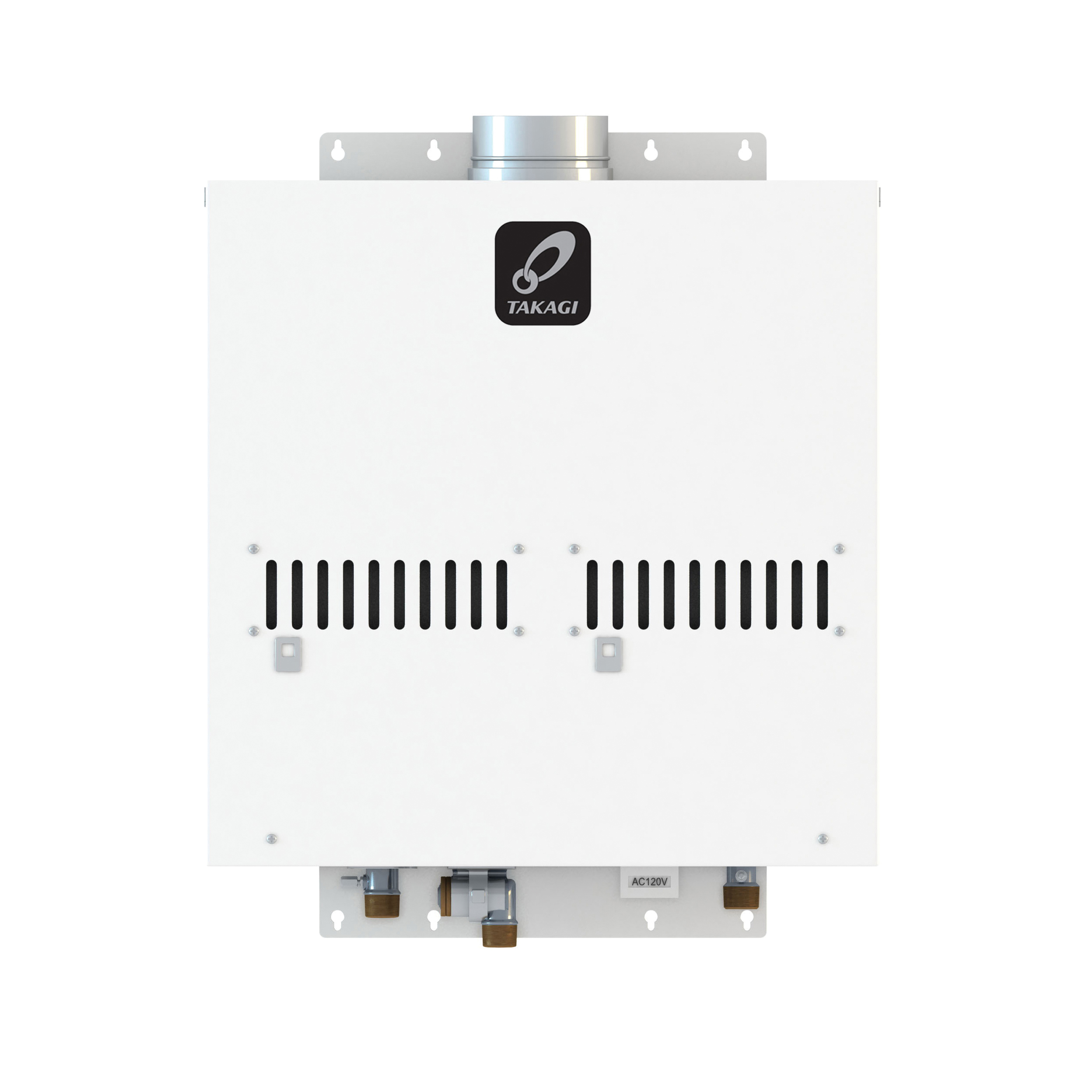 Takagi T-M50 Indoor/Outdoor Non-Condensing Tankless Water Heater, 380000 Btu/hr Heating, Natural Gas Fuel, Power Vent