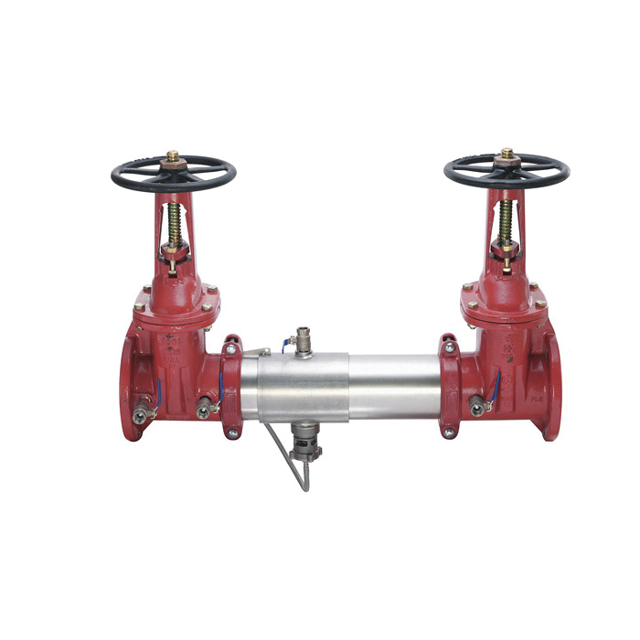 WATTS® 957 Lead Free Reduced Pressure Zone Assembly With Flanged OSY Gate Valve, 2-1/2 in, Stainless Steel