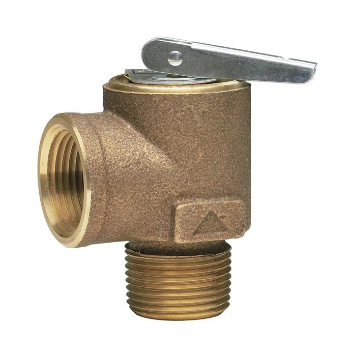 WATTS® 315M2-015 Safety Relief Valve, 3/4 in, MNPT x FNPT, 15 psi, Bronze