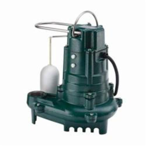 Zoeller® Flow-Mate 130 Single Phase Single Seal Submersible Pump, 93 gpm, 1-1/2 in NPT Outlet, 1/2 hp, Cast Iron