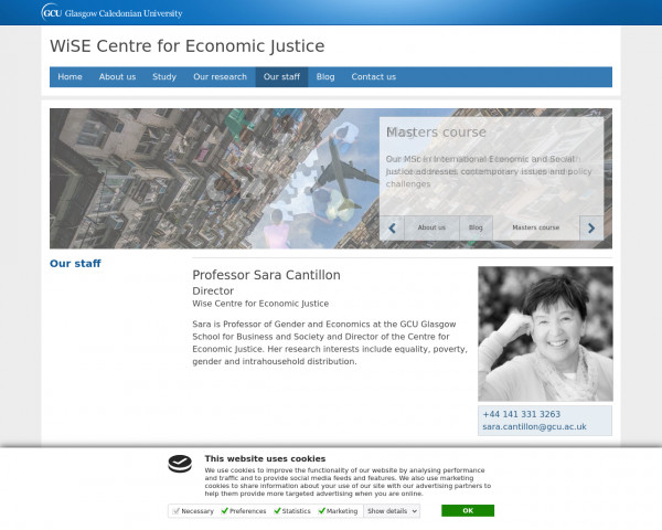 Screenshot of Our staff | Wise Centre for Economic Justice