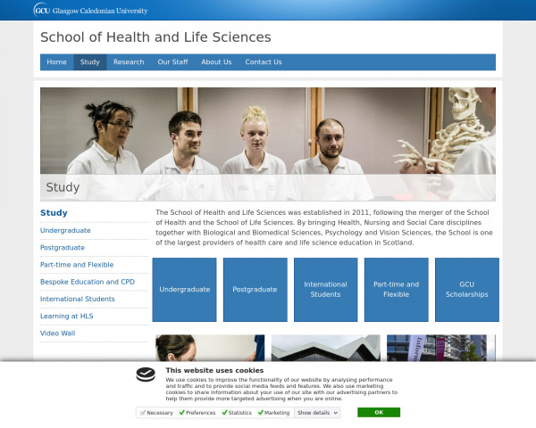 Screenshot of Study | Health and Life Sciences