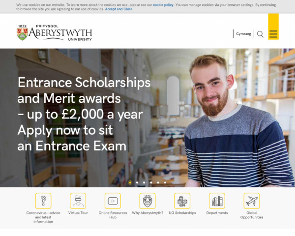Screenshot of Aberystwyth University: Best in the UK for student experience