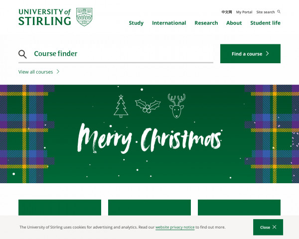 Screenshot of University of Stirling