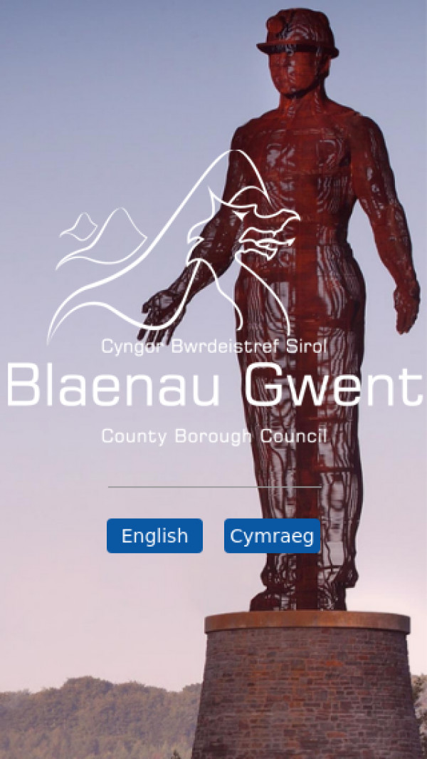 Mobile screenshot of Blaenau Gwent County Borough Council website