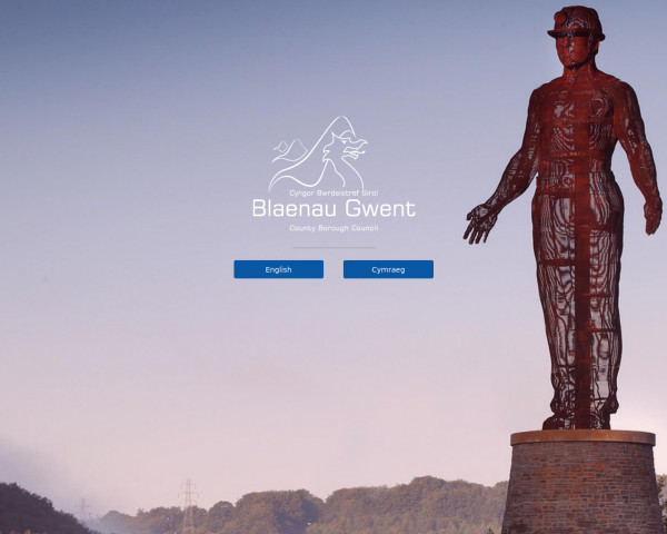 Desktop screenshot of Blaenau Gwent County Borough Council website