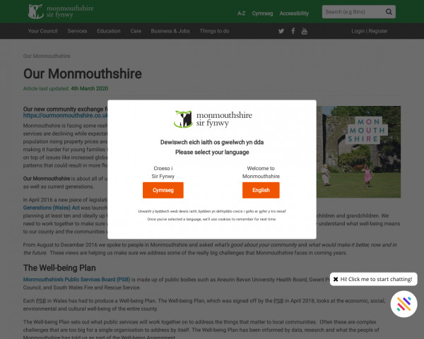 Screenshot of Our Monmouthshire - Monmouthshire
