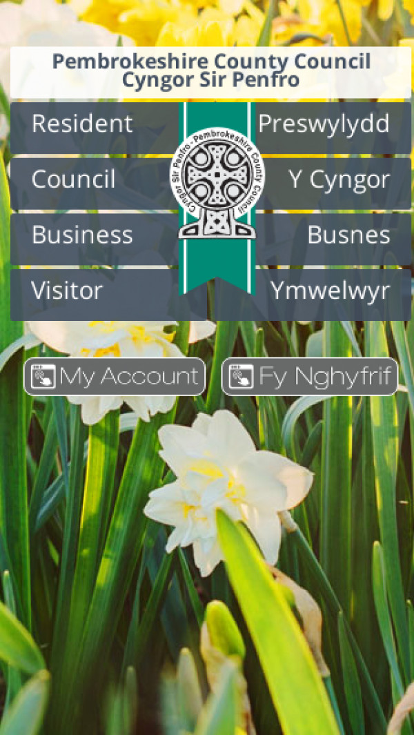 Mobile screenshot of Pembrokeshire Council website