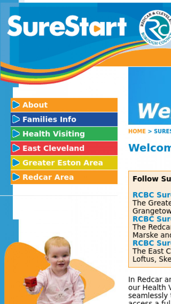 Mobile screenshot of Redcar and Cleveland Council website