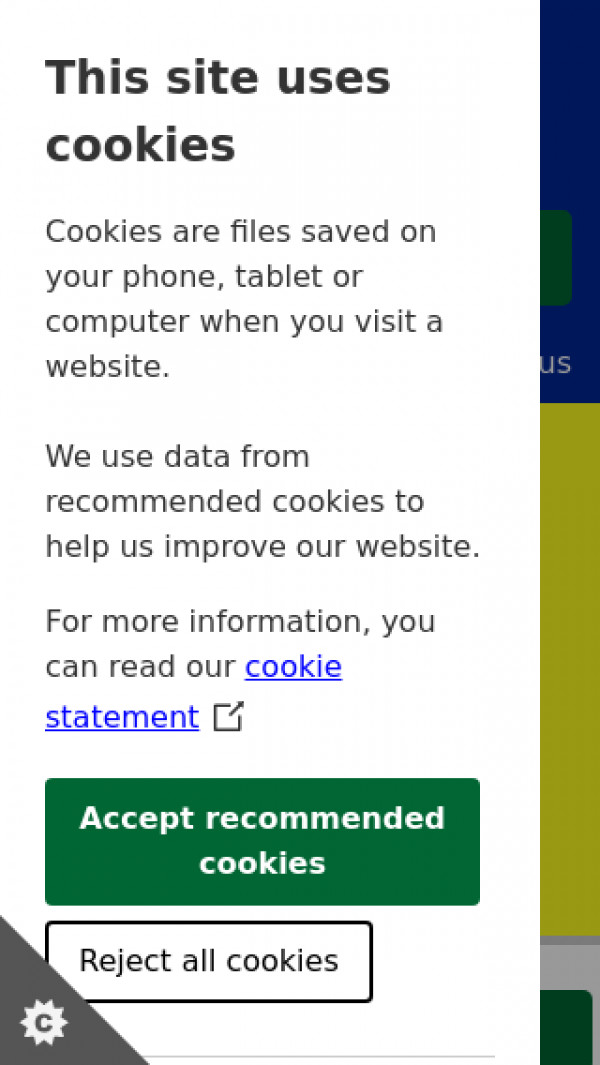 Mobile screenshot of South Lakeland District Council website