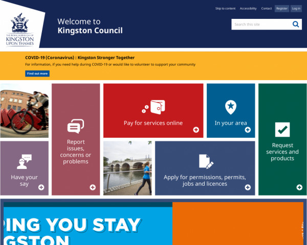 Desktop screenshot of Royal Borough of Kingston upon Thames Council website
