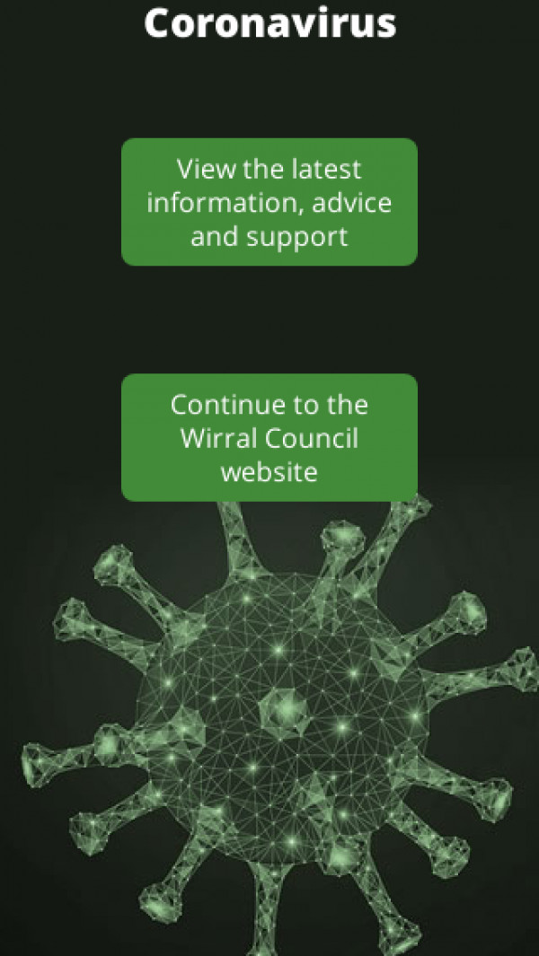 Mobile screenshot of Wirral Metropolitan Borough Council website