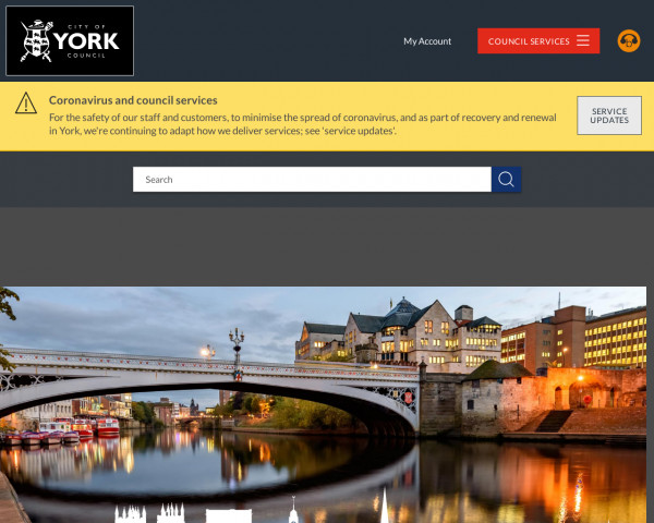 Desktop screenshot of City of York Council website