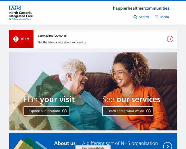 Screenshot of North Cumbria Integrated Care NHS Foundation Trust