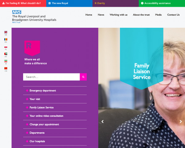 Desktop screenshot of Royal Liverpool and Broadgreen University Hospitals Trust website
