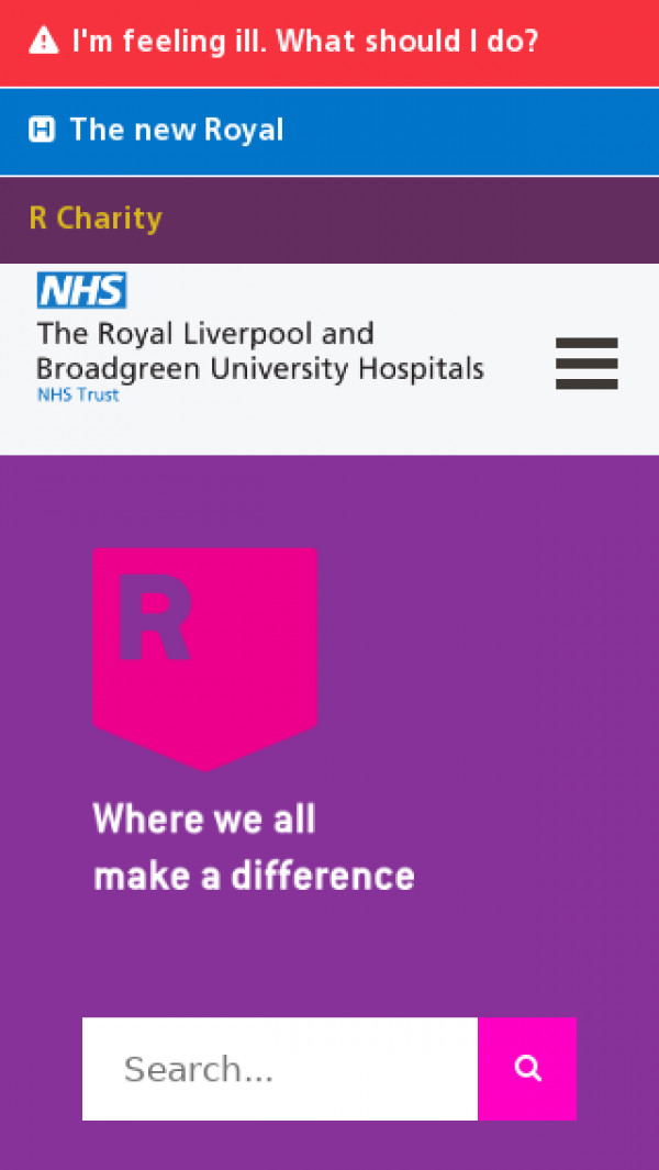 Mobile screenshot of Royal Liverpool and Broadgreen University Hospitals Trust website