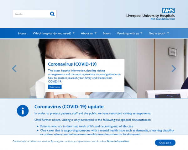 Screenshot of Liverpool University Hospitals NHS Foundation Trust