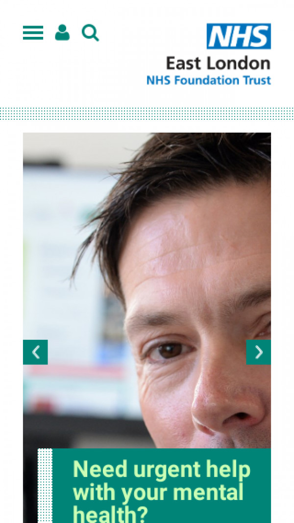 Mobile screenshot of East London NHS Foundation Trust website