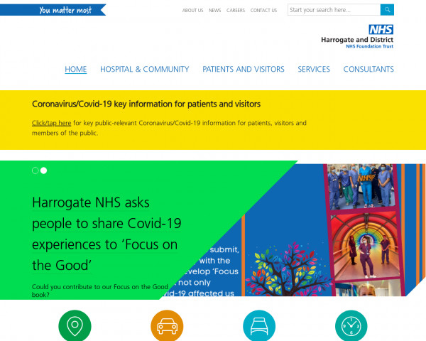 Screenshot of Harrogate and District NHS Foundation Trust