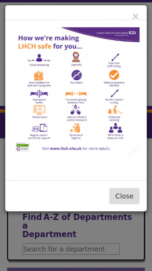 Mobile screenshot of Liverpool Heart and Chest Hospital NHS Foundation Trust website
