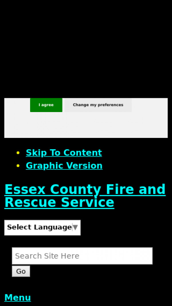 Mobile screenshot of Essex Fire and Rescue Service  website