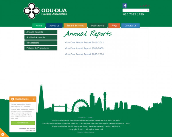 Screenshot of Annual Reports |
