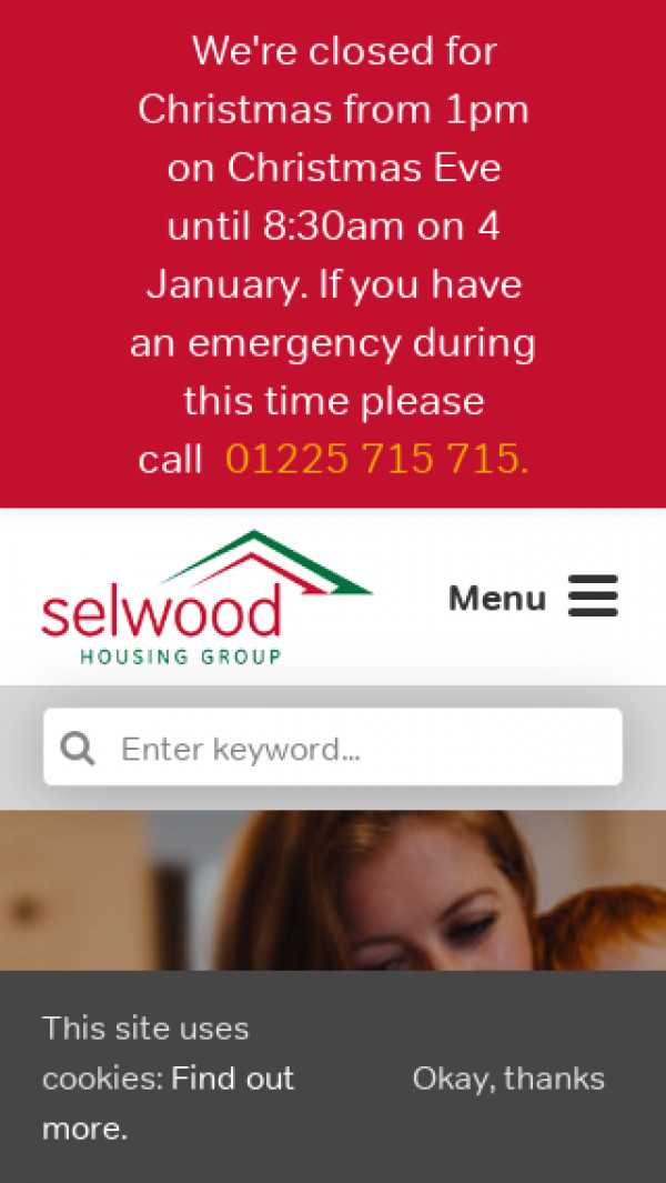 Mobile screenshot of Selwood Housing Society Limited website
