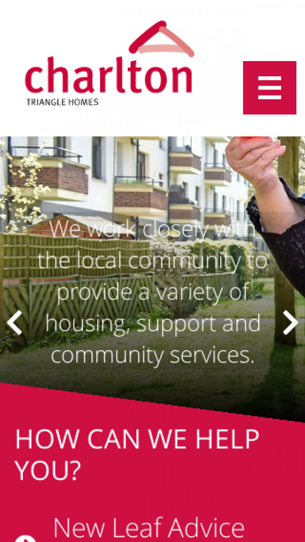 Mobile screenshot of Charlton Triangle Homes Limited website