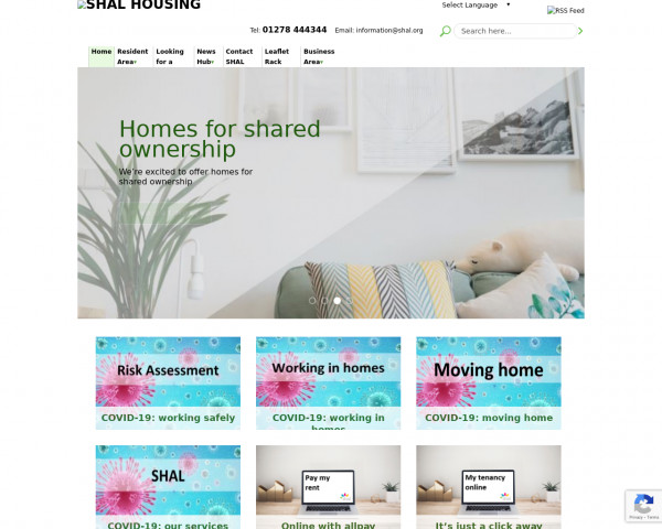 Screenshot of Shal Housing