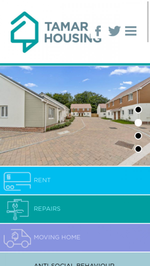 Mobile screenshot of Tamar Housing Society Limited website