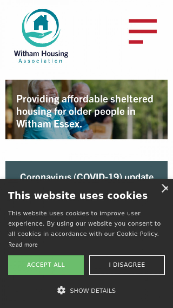 Mobile screenshot of Witham Housing Association Limited website