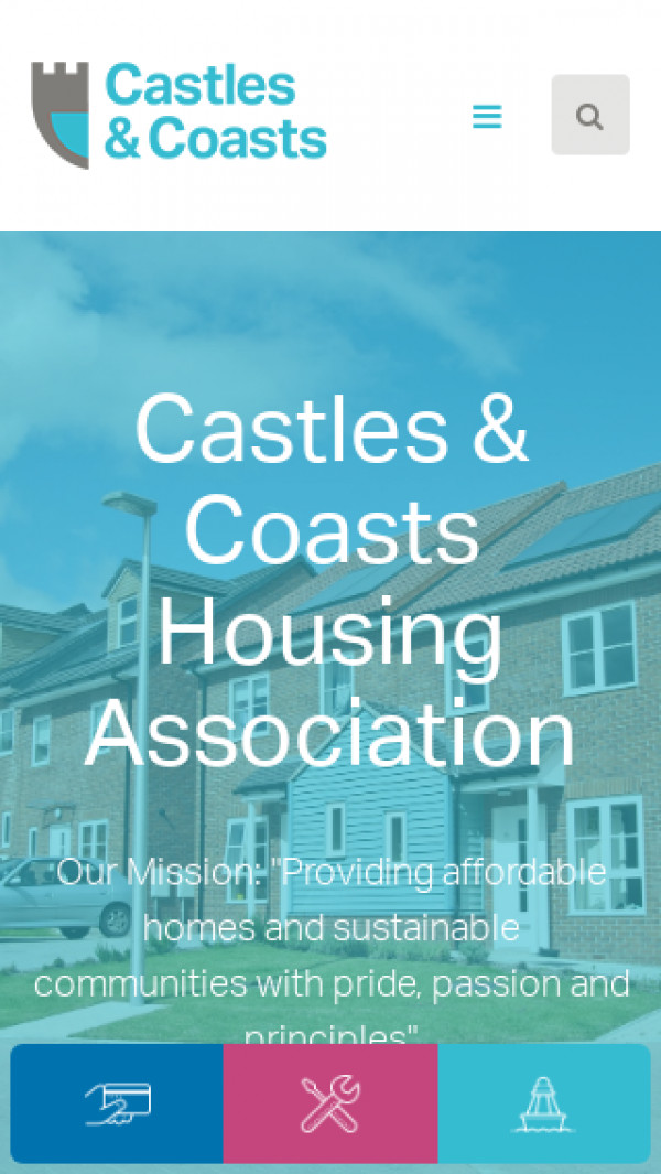 Mobile screenshot of Castles & Coasts Housing Association Limited website