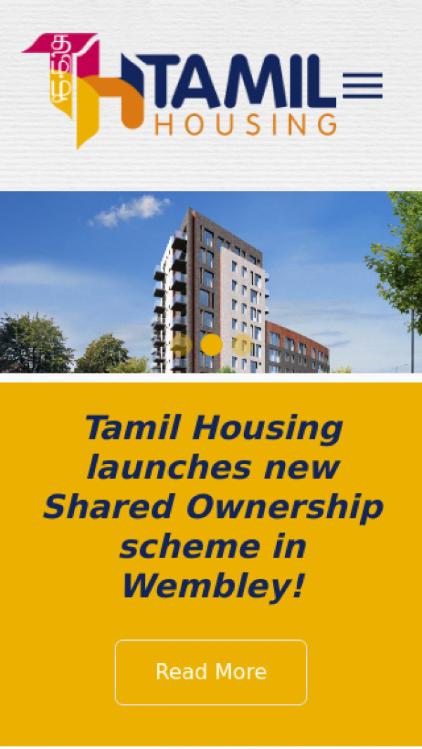 Mobile screenshot of Tamil Community Housing Association Limited website
