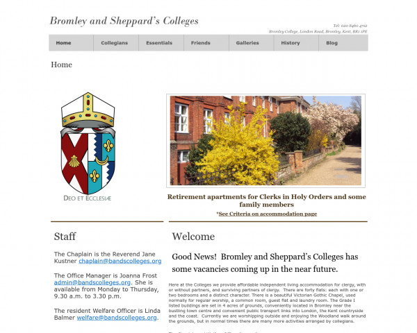 Screenshot of Bromley and Sheppard's Colleges