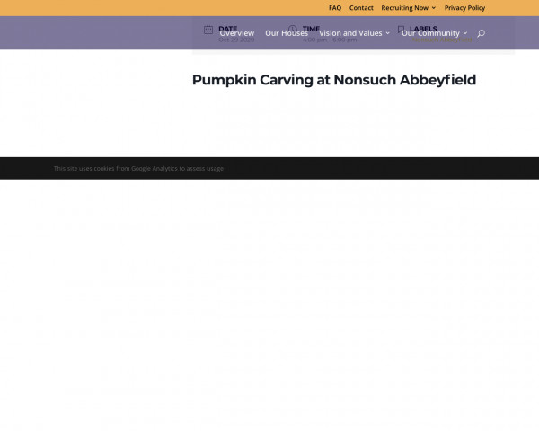 Screenshot of Pumpkin Carving at Nonsuch Abbeyfield   Abbeyfield Southern Oaks