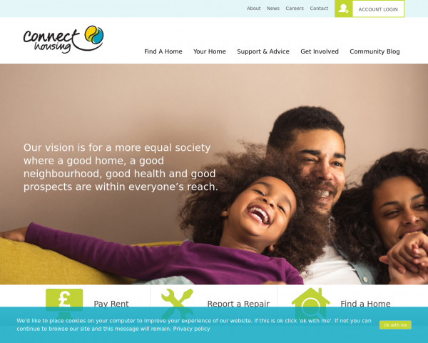 Screenshot of Home - Connect Housing