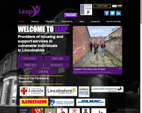Desktop screenshot of Lincolnshire Employment Accommodation Project Limited website