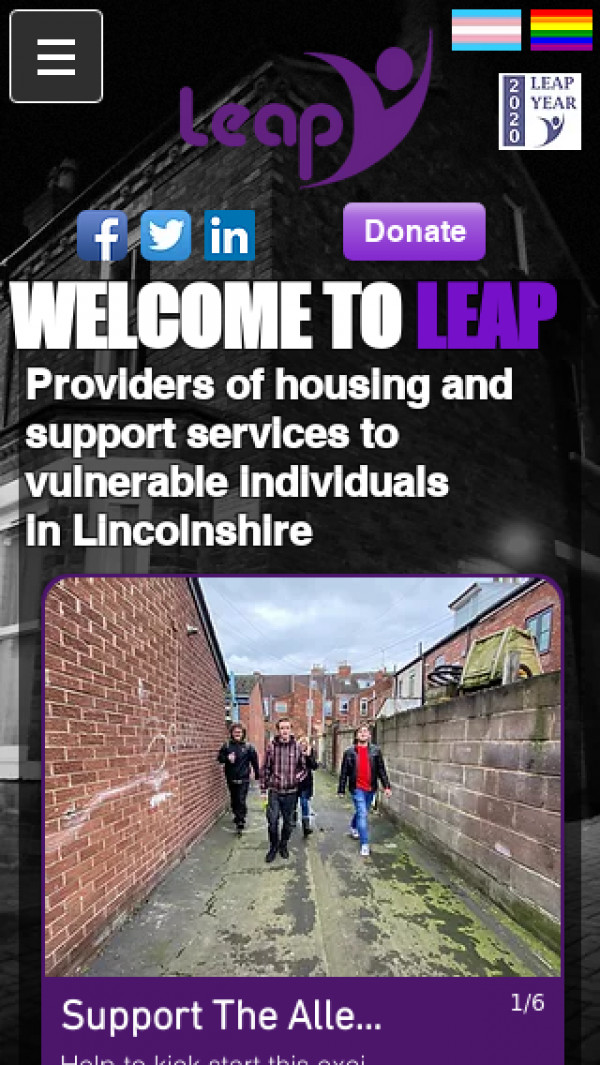 Mobile screenshot of Lincolnshire Employment Accommodation Project Limited website