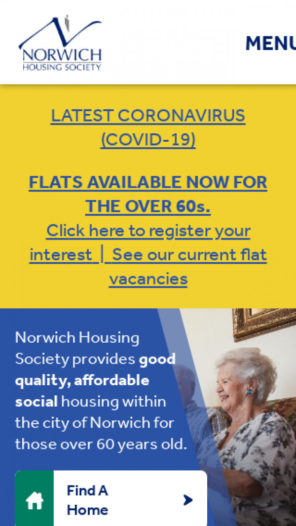 Mobile screenshot of Norwich Housing Society Limited website