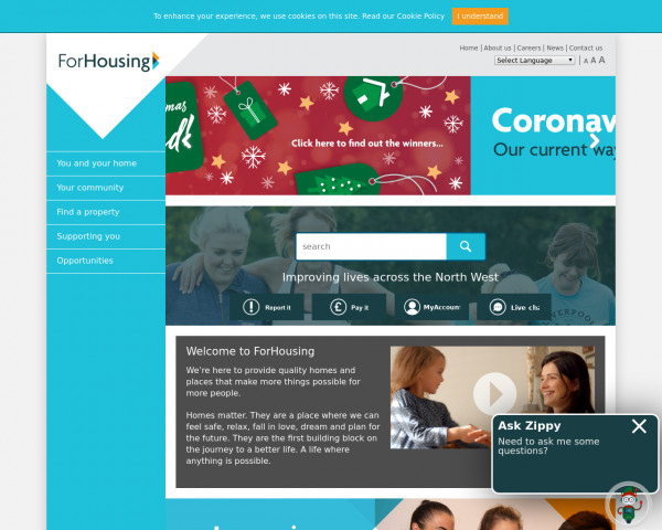 Desktop screenshot of ForHousing Limited website