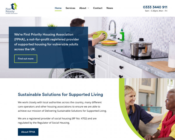 Desktop screenshot of First Priority Housing Association Limited website