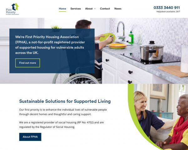 Screenshot of First Priority Housing Association (FPHA) - Supported Housing Services