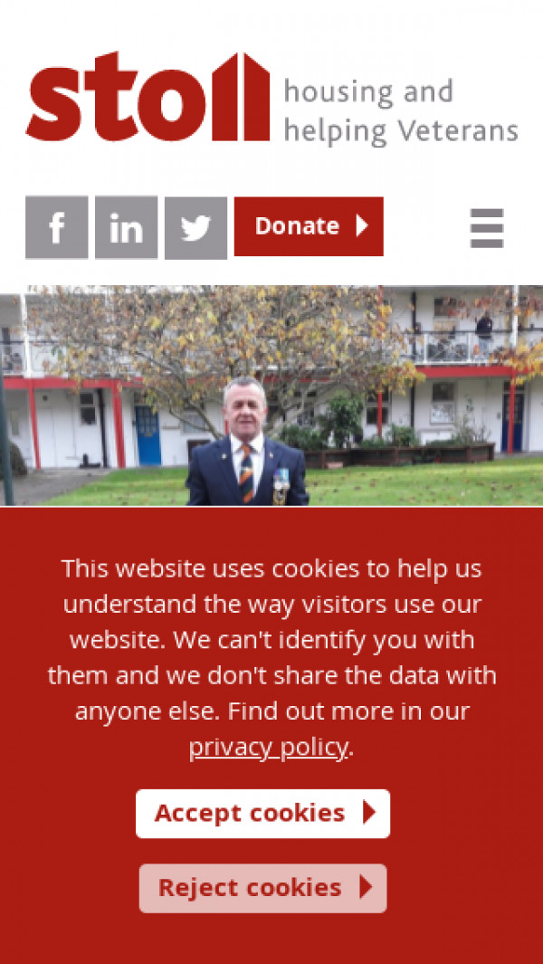 Mobile screenshot of The Sir Oswald Stoll Foundation website
