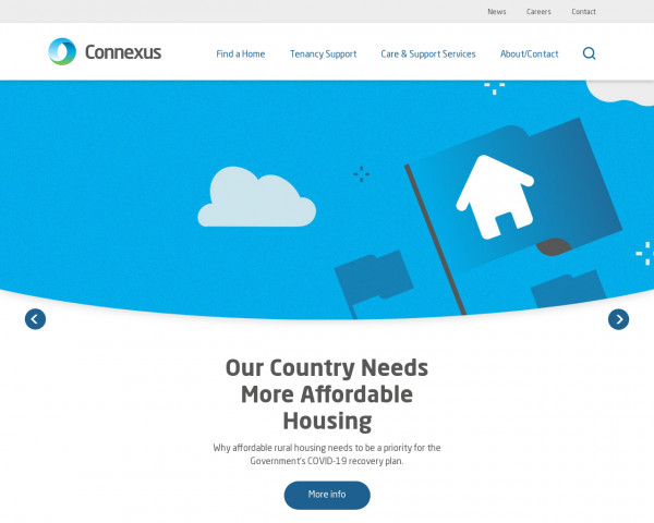 Desktop screenshot of Connexus Housing Limited website