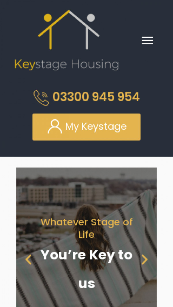 Mobile screenshot of Keystage Properties Limited website