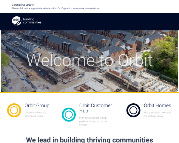 Desktop screenshot of Orbit Group Limited website