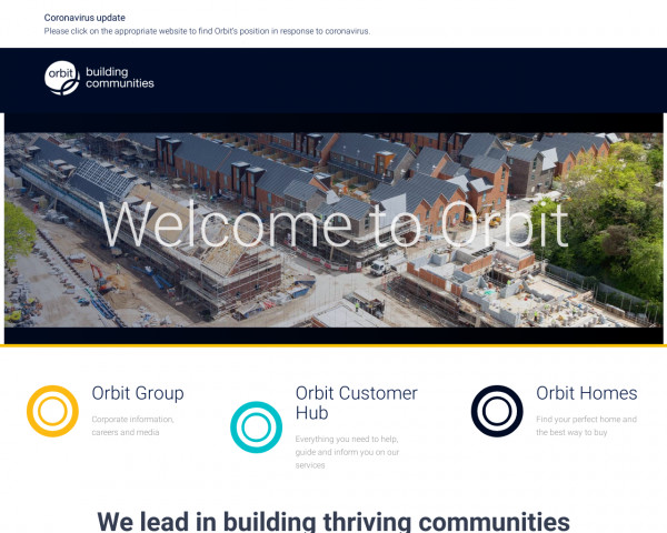 Screenshot of A leading housing provider who provide good value homes | Orbit